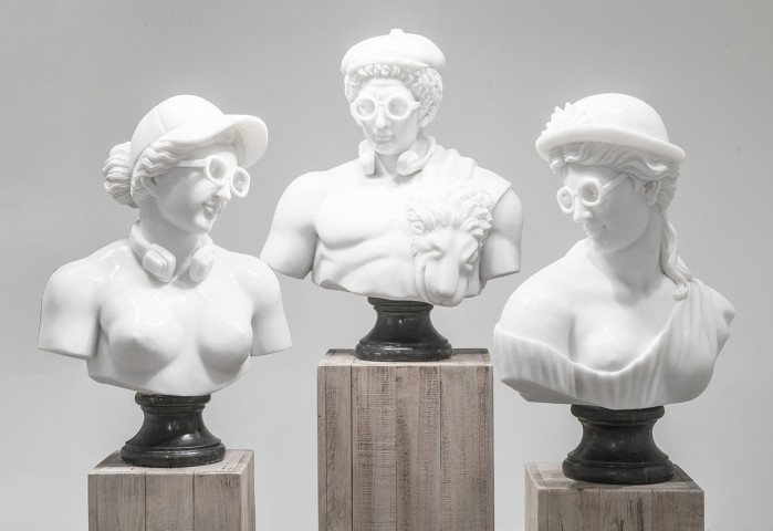 Hipster Sculptures ( Marble and Bronze ), 2016